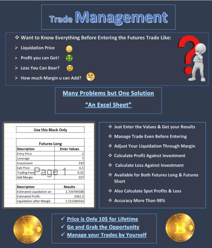 Trade Management Sheet