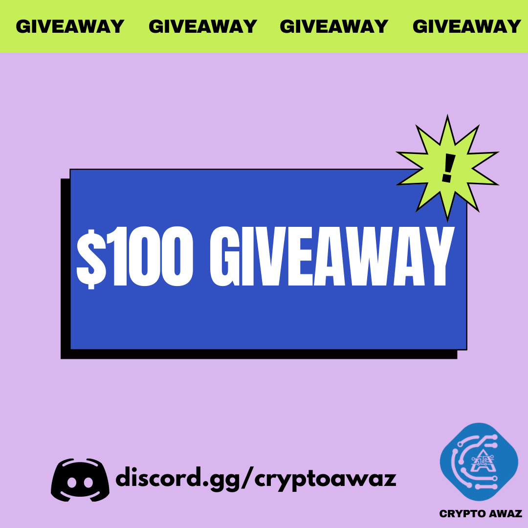 $100 Crypto Giveaway