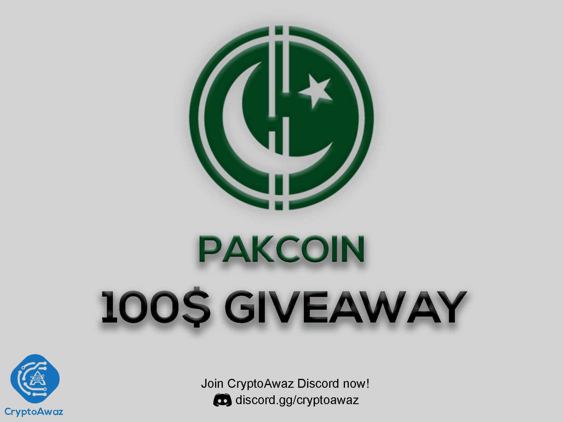 $100 PAKCOIN Giveaway